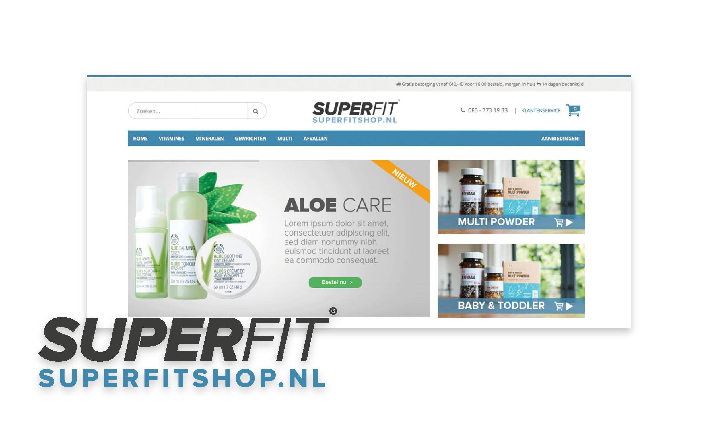 Superfitshop- een goede catalogus gebaseerd op deskundig advies-